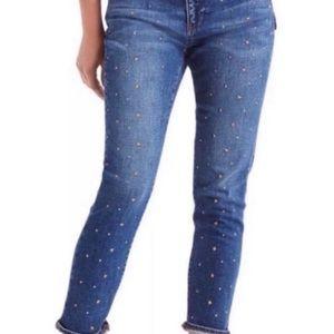 Gap Best Girlfriend Gold Star Studded Ankle Jeans